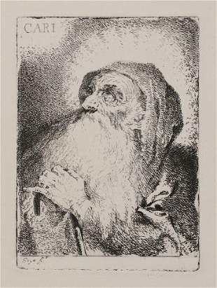 """Goya Etching, """"CARI"""""""