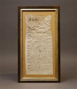 Ca. 16th c. Manuscript Document