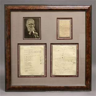George Bernard Shaw, Signed Letter