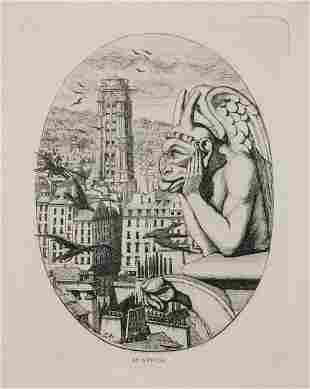 Charles Meryon, Le Stryge, Etching