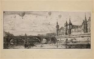 Meryon, Charles. Le Pont-Au-Change