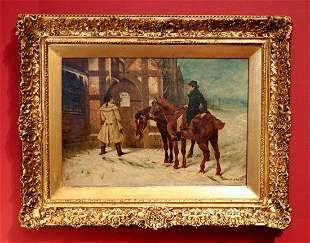 Samuel E. Waller, 19th c. Oil Painting