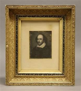 Engraved Portrait of Shakespeare