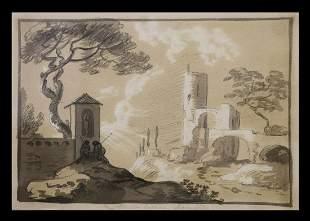 Sir William Hamilton, Watercolor