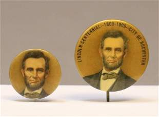 Abraham Lincoln Buttons, 1909
