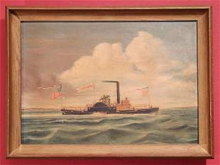 Oil Painting, Steamship Amanda Winants