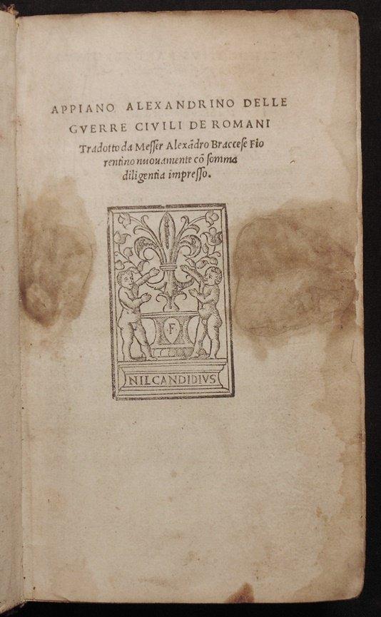 Appian (Appianus of Alexandria).  Delle Guerre Civili - 4