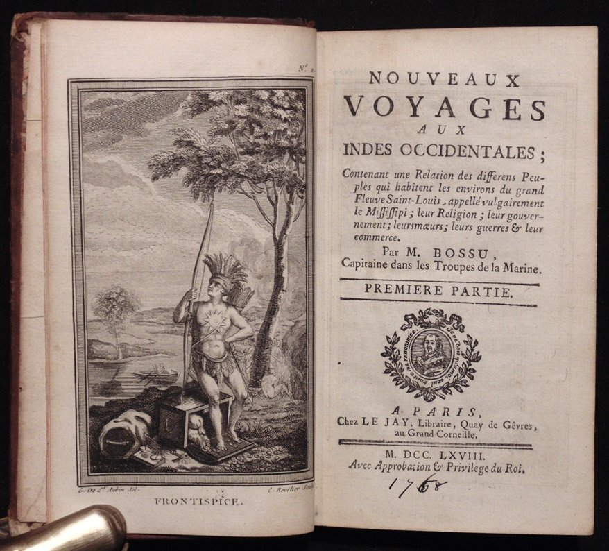 Bossu.  Nouveaux Voyages aux Indes Occidentales