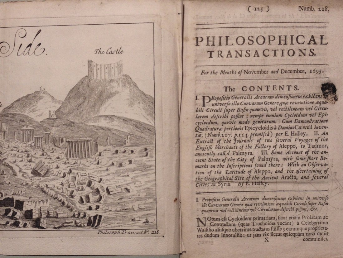 Edmund Halley.  Philosophical Transactions, 1695
