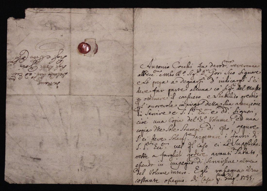 [Manuscript] Antonio Cocchi & Antonio Gori