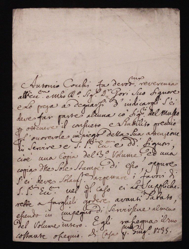 [Manuscript] Antonio Cocchi & Antonio Gori - 2