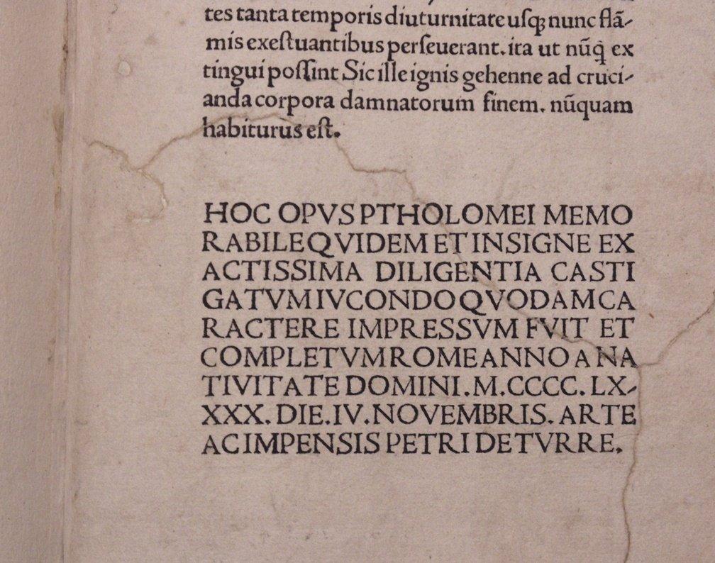 Ptolemy.  Cosmographia, 1490 - 9