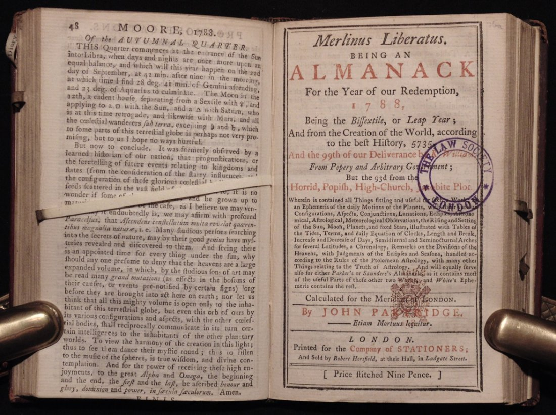 [18th C. Almanacs] - 5