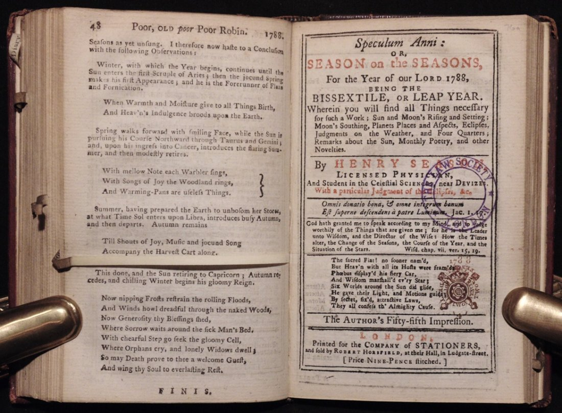 [18th C. Almanacs] - 6