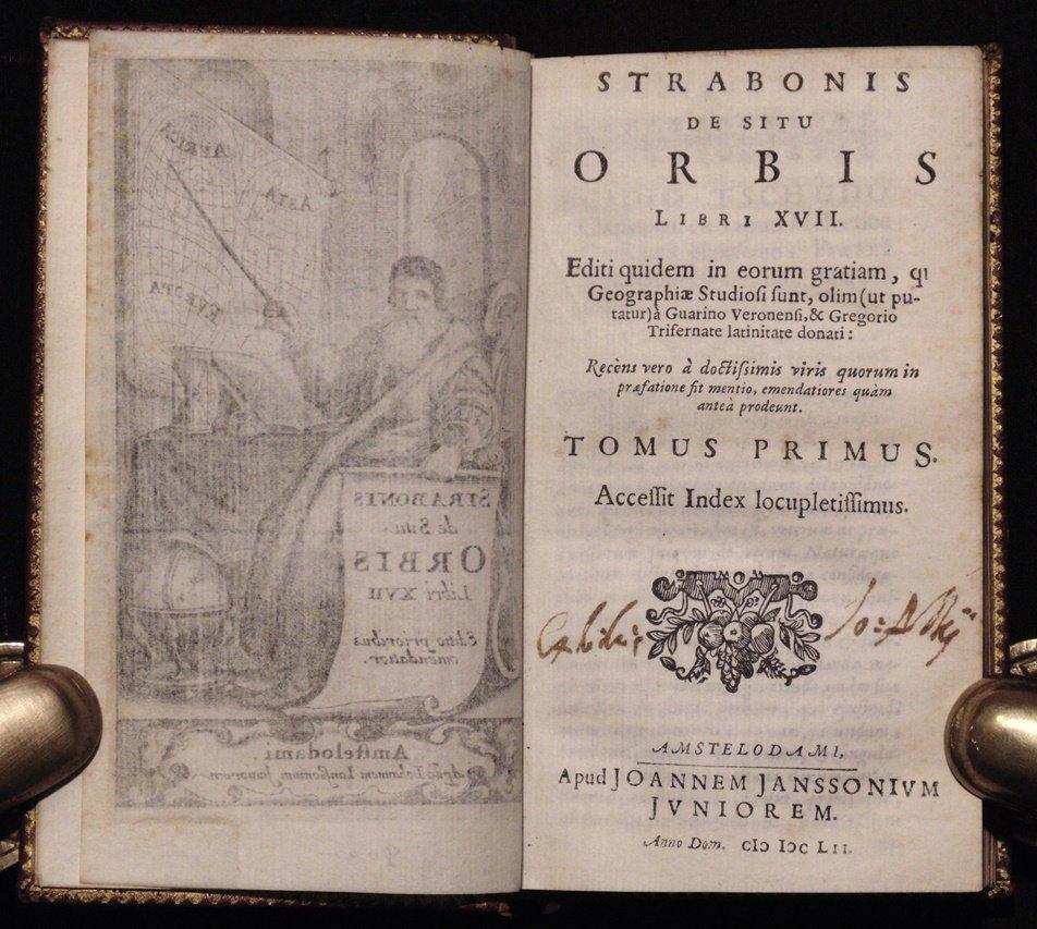 [Geography]  Strabonis de situ Orbis, 1652 - 5