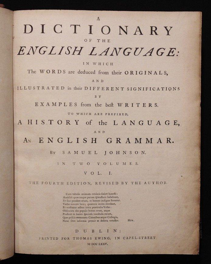 Johnson's Dictionary of the English Language - 3