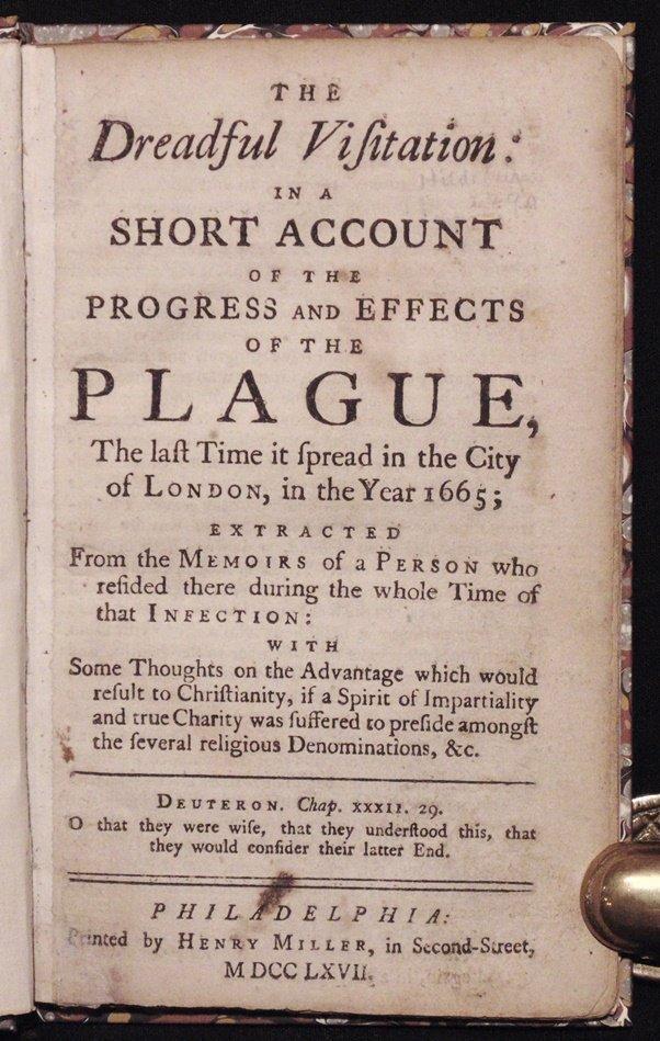 [The Plague]  The Dreadful Visitation