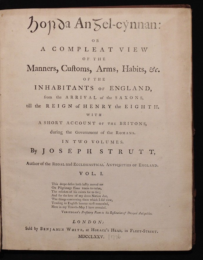 Strutt, Joseph. Compleat View of the Manners … - 2