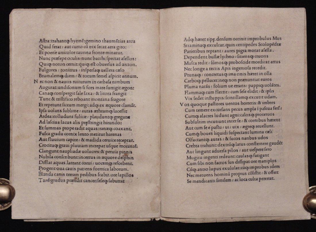 [Incunabula]  Angelus Politianus.  Silva cui Titulus - 5