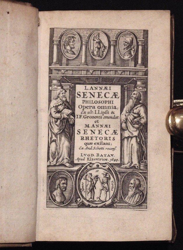 Seneca.  Opera Omnia.  Elzevir, 1649 - 4