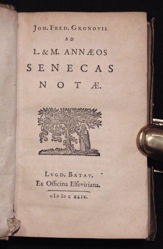 Seneca.  Opera Omnia.  Elzevir, 1649 - 8