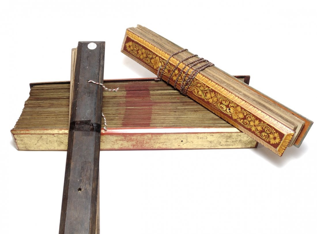 [Sinhalese Palm Leaf Manuscripts, lot of 3]