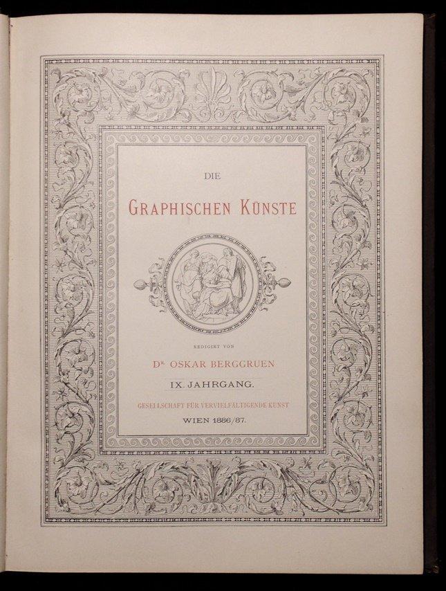 [Etchings & Engravings]  Die Graphischen …. - 2