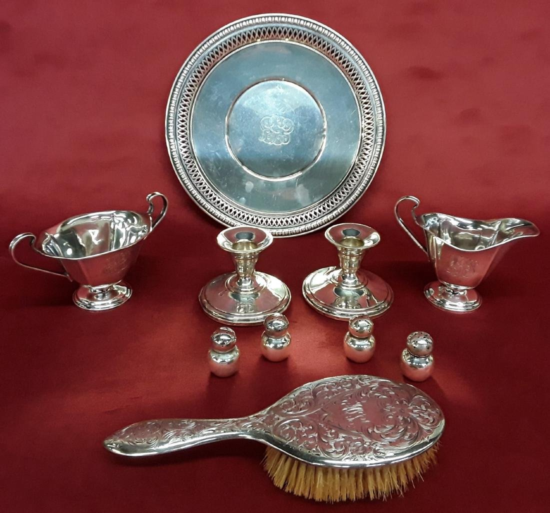 Lot of 10 Various Pcs of Sterling Silver