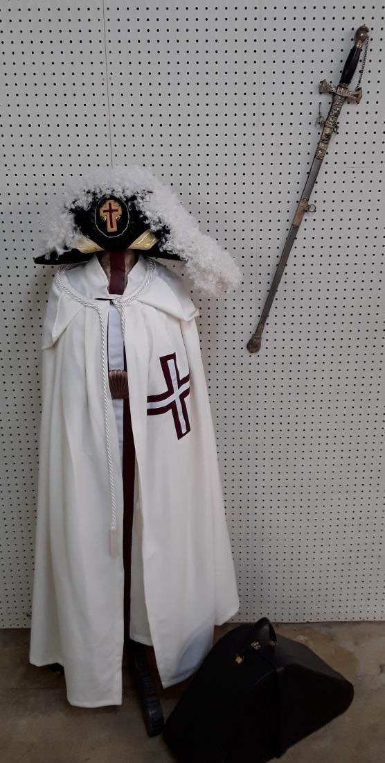 Knights Templar Hat, Robe, and Sword