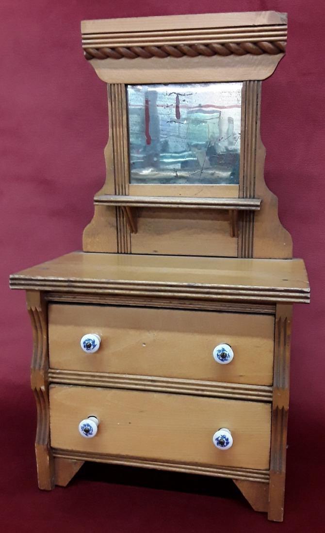 Victorian Salesman Sample Dresser