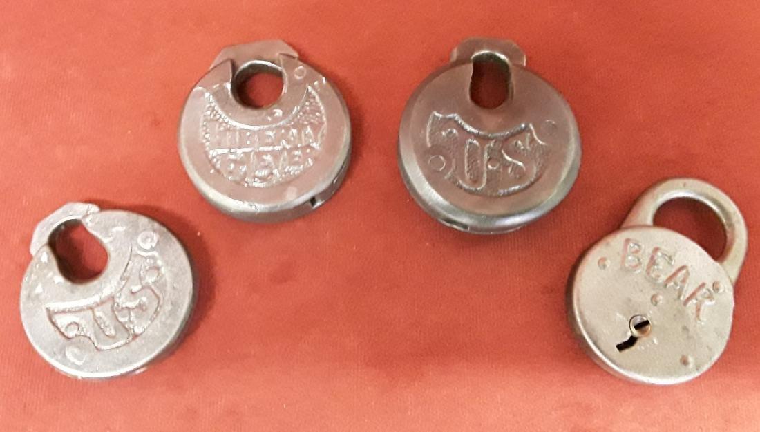 Lot of 4 Antique Locks