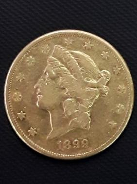 1899 Liberty $20 Gold Pcs