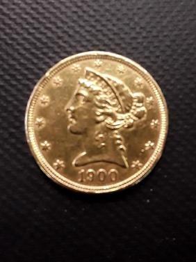 1900 Liberty $5 Gold Pcs