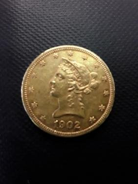 1902 $10 Gold Liberty Gold Coin
