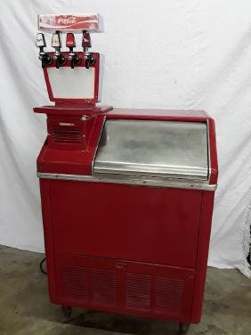 1960's Galaxie Coca Cola Cooler Fountain with Ice Chest