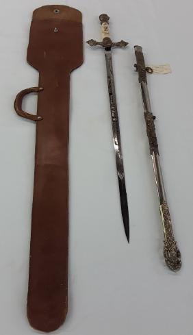 "Knights Templar Masonic Sword ""York Rite"" with Scabbard"