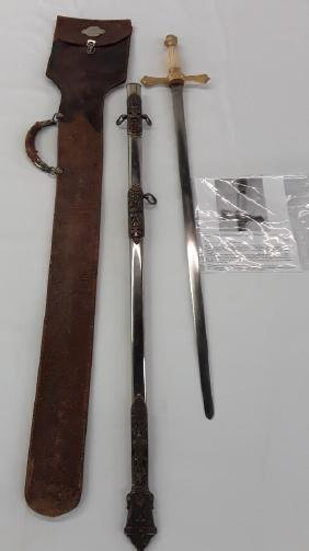 Knight Templar Sword with Scabbard