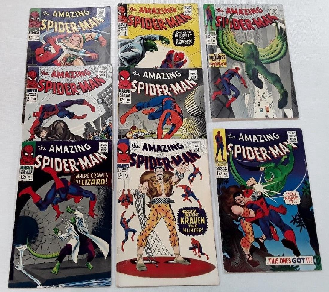The Amazing Spider-Man Issues #42,43,44,45,46,47,48,&49