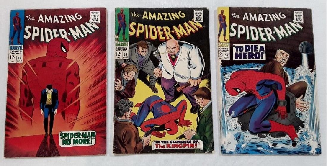 The Amazing Spider-Man Issues #50,51,&52