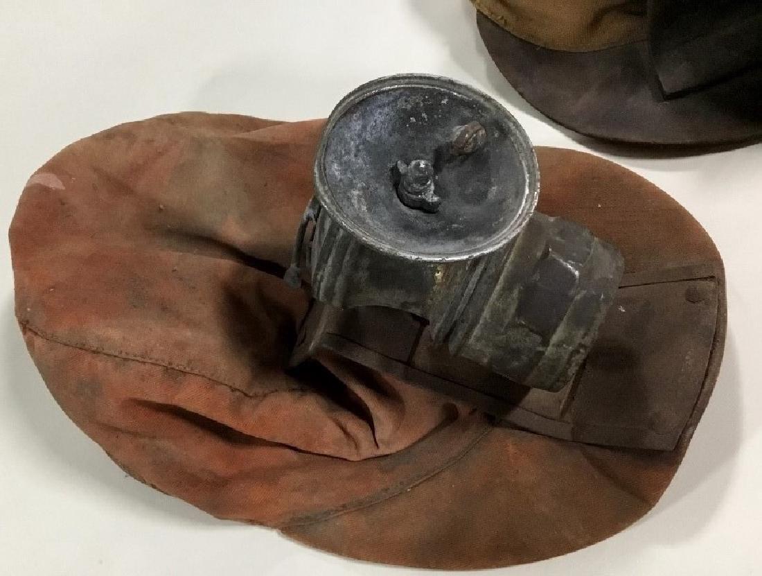 Lot of 2 Mining hats-helmets w/carbide lights - 2