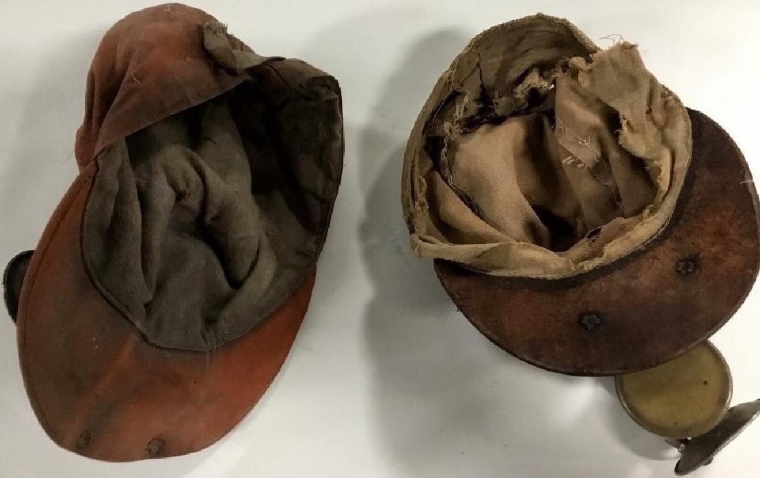 Lot of 2 Mining hats-helmets w/carbide lights - 4