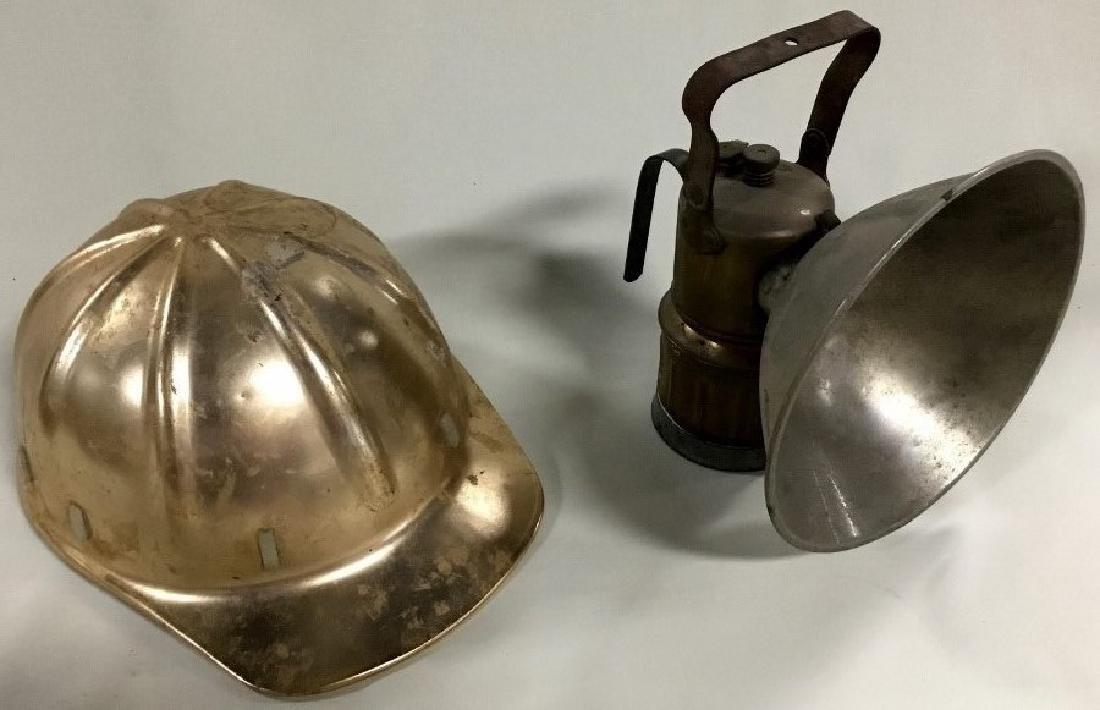 Mining Helmet and carbide light