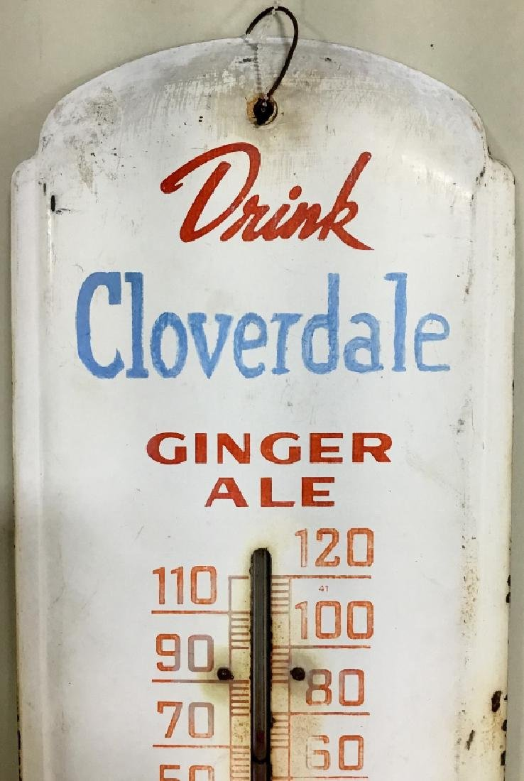 """Cloverdale Thermometer """"Drink Cloverdale Ginger Ale"""""""