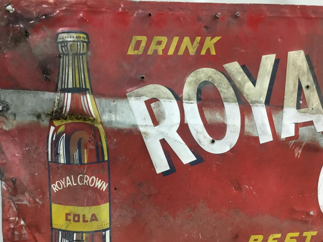 1949 Royal Crown Cola painted sign (Found Condition), - 2