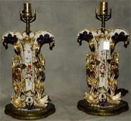 Pair of 19th century Old Paris porcelain vases