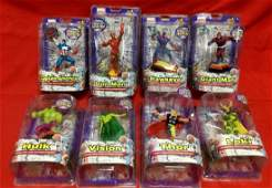 Lot of 8 Marvel Collectable Figural paper weights
