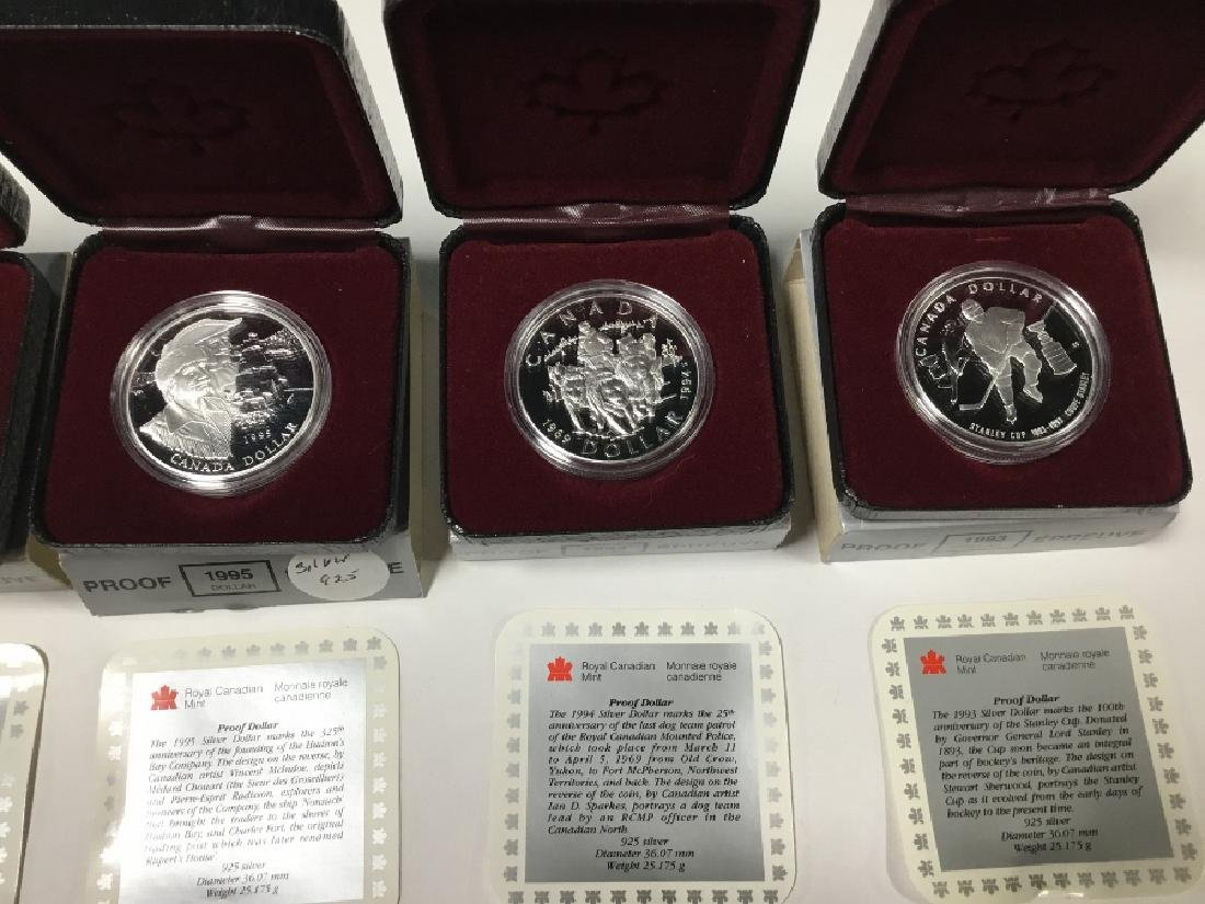 Lot of 6 Royal Canadian Mint Proof Dollars - 3