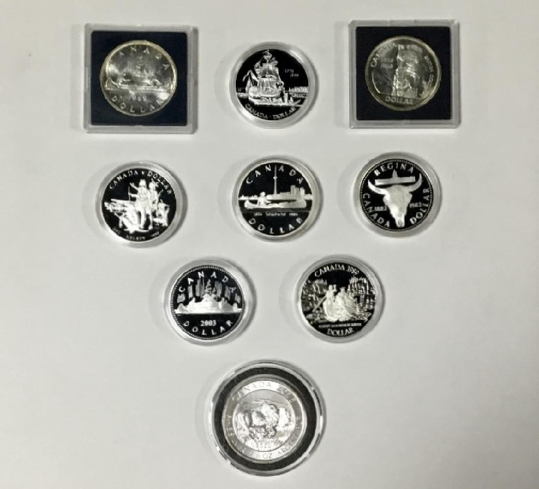 Lot of 9 Canadian Proof coins