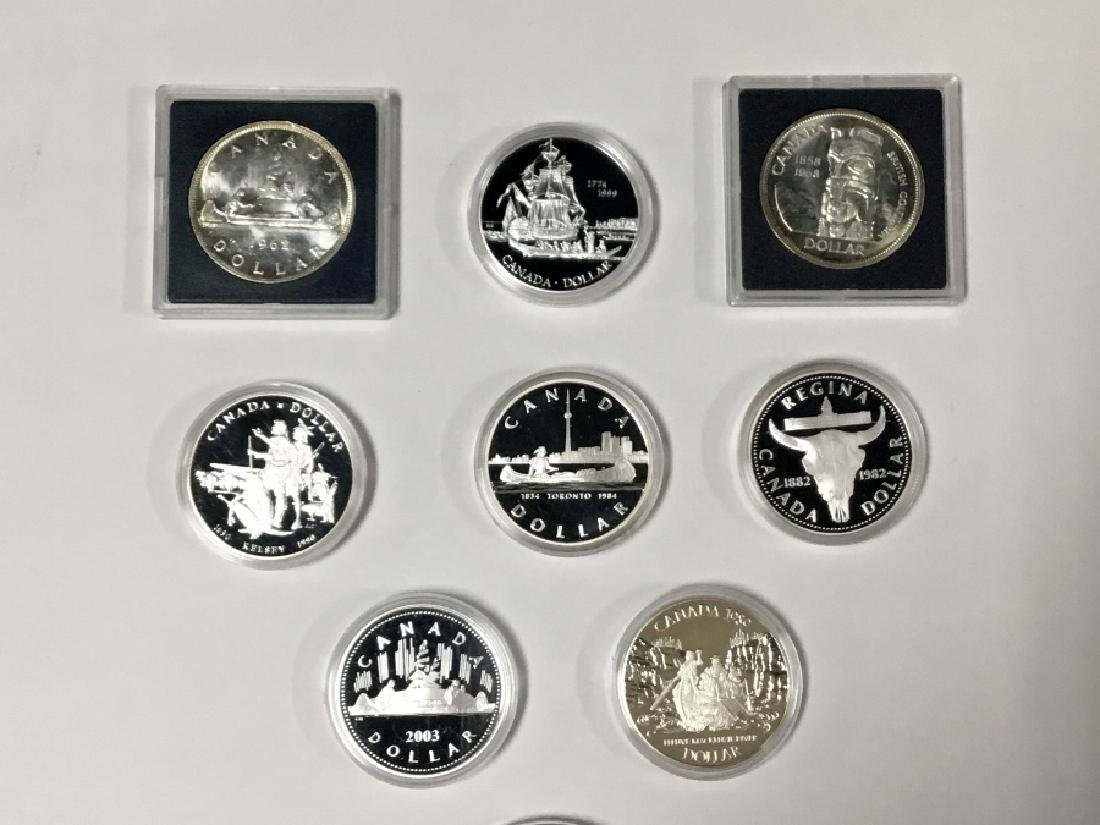 Lot of 9 Canadian Proof coins - 2