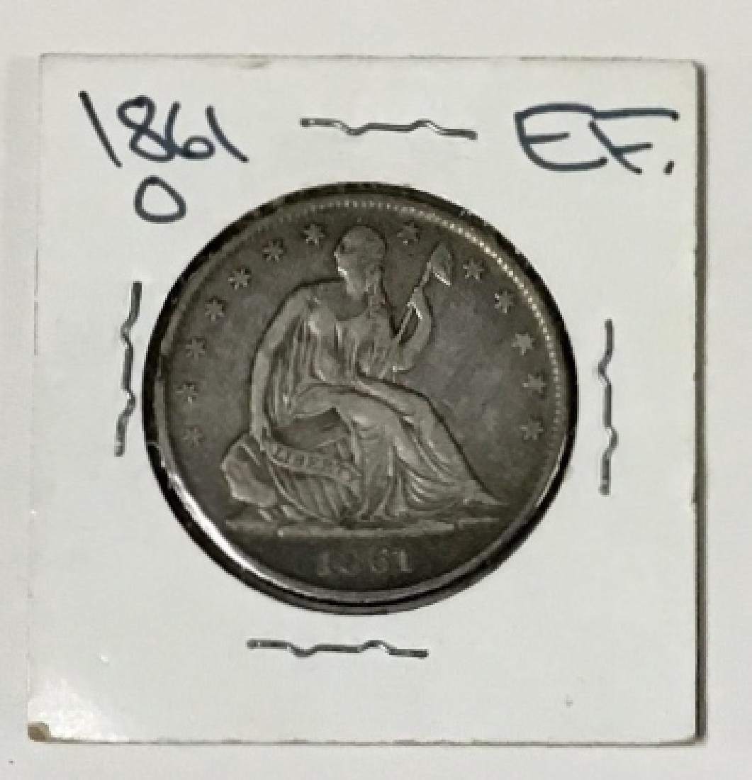 1861-0 Seated Liberty Half Dollar